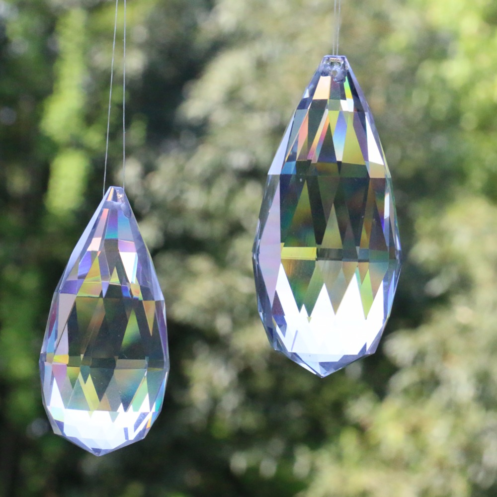 New Arrival 2 Size Oval Suncatcher Water Drop Crystal Chandelier Prism Party Ornament DIY Pendant Accessories Craft Supply