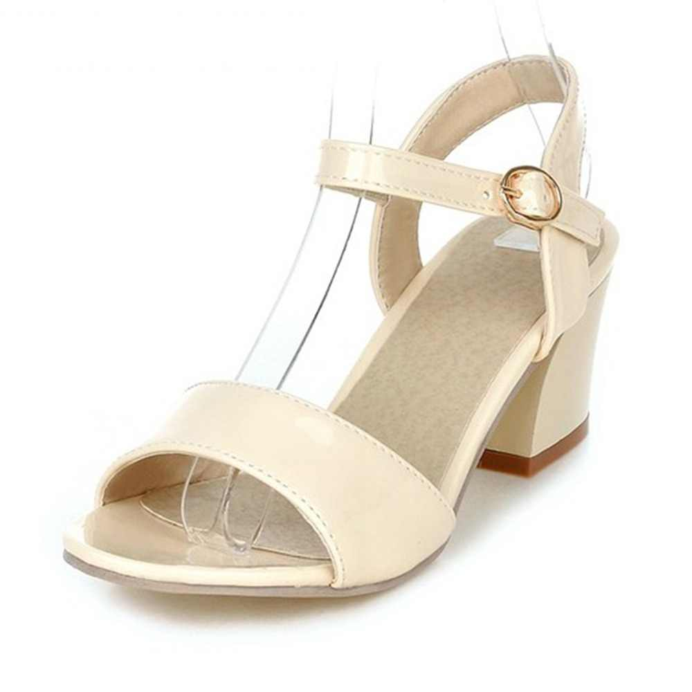3384ebfb99649 Meotina Women Sandals 2018 Summer Shoes Sandals Size 9 10 Open Toe Ladies Chunky  High Heels