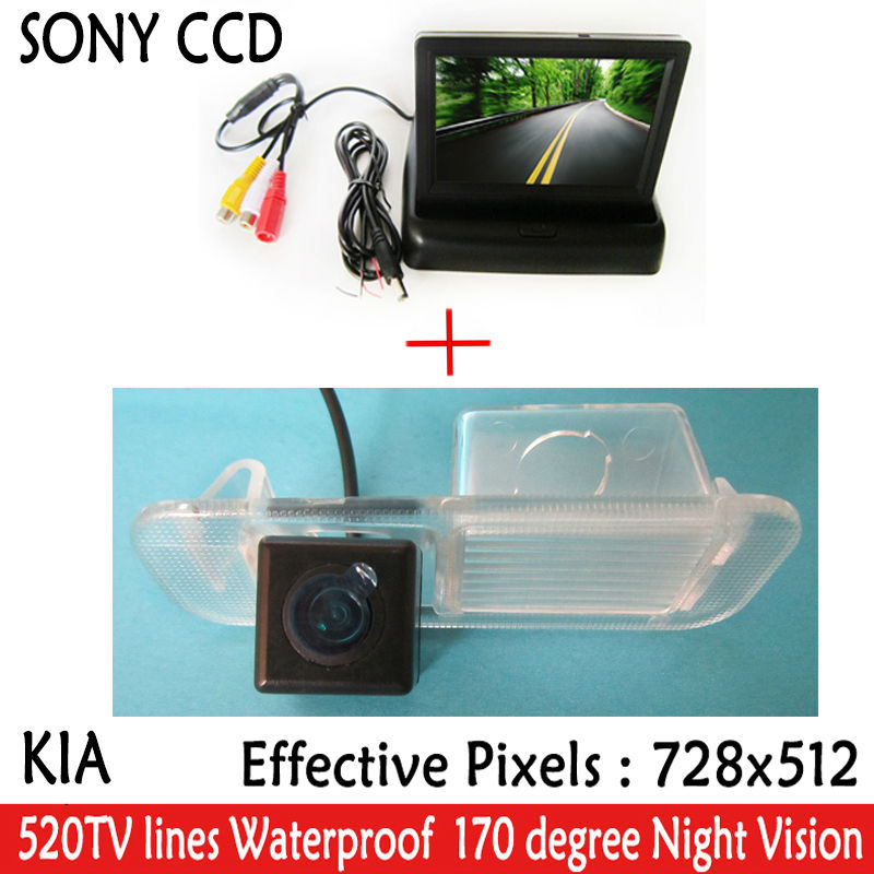 car accessories Paking HD Revere SONY CCD Car Rear View Camera With 4.3 inch Car Rearview Mirror Monitor For Kia K2 RIO Sedan