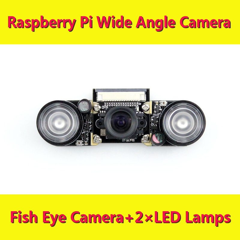 Raspberry pi Wide Angle Fish Eye Camera RPI Webcam Suit Raspbian DIY Development Kit new arrival freeshipping wholesale hot sell