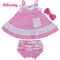 Baby Clothing Sets Newborn Girl Cotton Stripe Sling Swing Top And Ruffle Bloomer For Infants 1 Birthday 0-2 yrs Girl Clothes