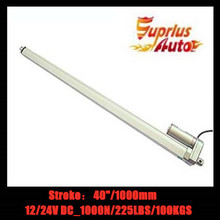 2019 Hot Sale : 40inch/1000mm (1M) stroke length 12v/24v DC linear actuator, 1000N/ 225lbs force electric linear actuator