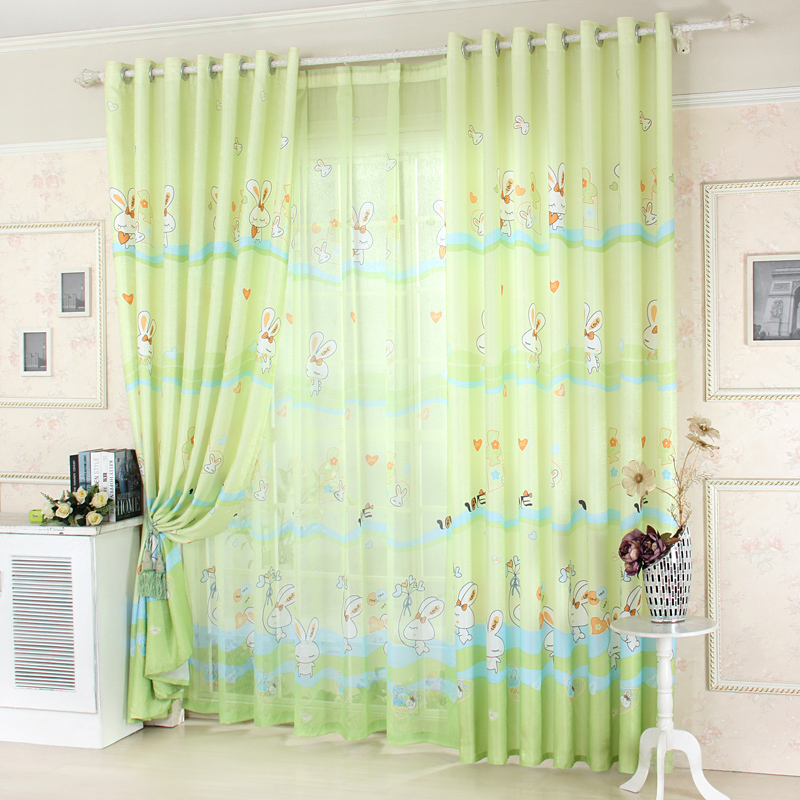 1piece readymade curtain lautubaobei children bedroom cartoon cortinas semi blackout kids curtains blind for home decoration
