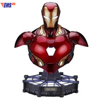 Avengers:Infinity War Superhero Iron Man MK50 1/1 Bust Polystone Statue With LED Light Action Figure Collection Model Toy X525