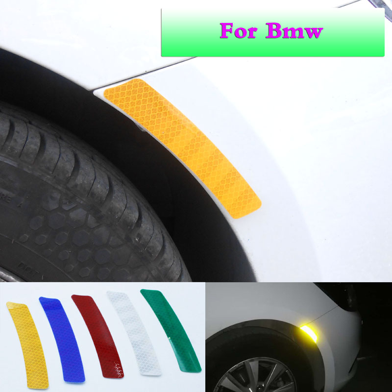 Automobile reflector strip dry adhesive warning leaf plate safety warning lamp reflector protection for BMW E90F10 accessories