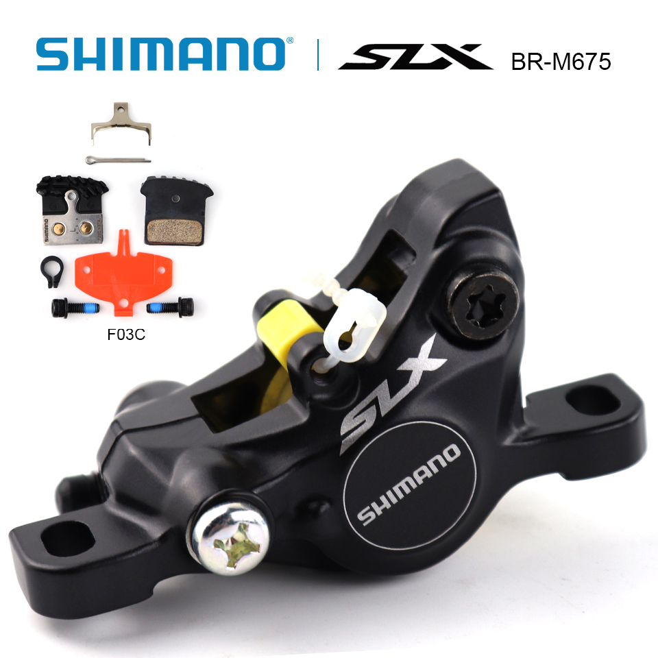 SHIMANO SLX BR-M675 BR M675 Disc Brake Caliper Hydraulic Disc Brake With F03C Metal Brake Pads