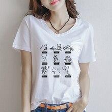 Kpop Stray Kids Signature Letter Print Short Sleeve Tshirt Tops Streetwear Fashion Korean Style Tees Mixtape Album Chemise Femme