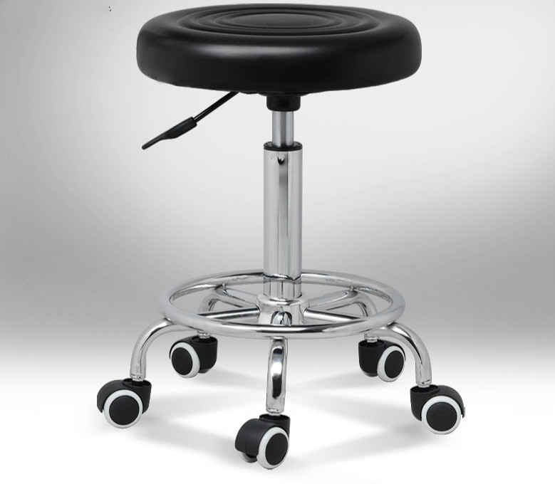 Round Swivel Chair Lifting Adjustable Height Rotatable Chair Office/Bar/Hair Salon/Reception Stool Simple Design 12 Colors