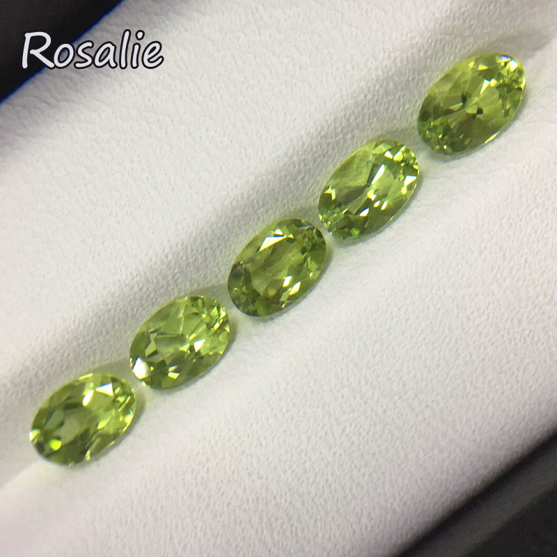 Rosalie,Natural loose gemstone china real Peridot oval 4*6mm 5 pc 2.8ct in one lot gemstone for silver jewelry mounting rosalie natural loose gemstone brazil real sky blue topaz oval 6 8mm 3 pc 4 5ct in one lot gemstone for silver jewelry mounting