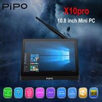 Pipo X10 pro Mini PC widws и Andriod 5,1 Mini PC Intel Z8350 4 ядра 4G 6 4G 10,8 дюймовый планшет ips PC Smart Media Player