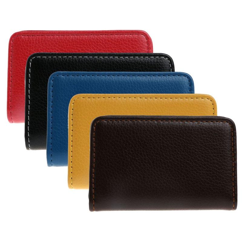 THINKTHENDO Pocket Business Name ID Credit Card Holder Case Keeper Organizer Men's Gift 5pack 120 cards black leather business name id credit card holder book case organizer