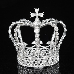 Image 2 - Crystal Vintage Royal Queen King Tiaras and Crowns Men/Women Pageant Prom Diadem Hair Ornaments Wedding Hair Jewelry Accessories