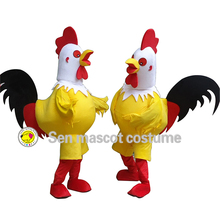 High quality big rooster adult Halloween carnival mascot costume fashion show