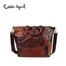 Cobbler Legend Genuine Leather Bags for Women Large Capacity Men Shoulder Bag  Female Big Promotion Totes Gift Handbag