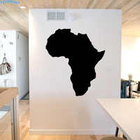 ZOOYOO Map Of Africa Wall Stickers Classic Bedroom Wall Decals Map Silhouette Home Decor Removable Murals Living Room Decoration