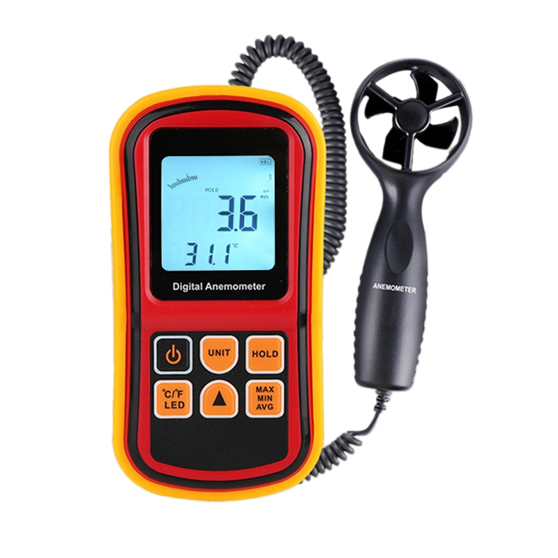 Gm8901 Anemometer Wind Speed Gaugetemperature Measure Digital 45 M/S Thermometer Handheld Measuring Tool