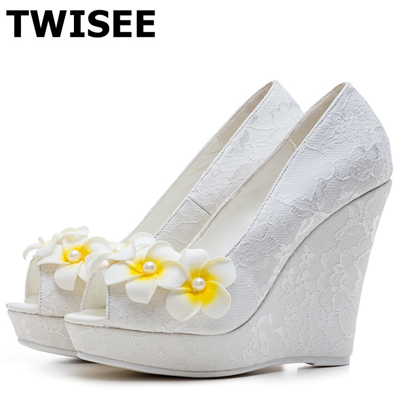 chaussure femme zapatos mujer new style Pumps fashion peep toe thin high heels 11 cm woman wedding shoes sweet flower cdts 35 45 46 summer zapatos mujer peep toe sandals 15cm thin high heels flowers crystal platform sexy woman shoes wedding pumps