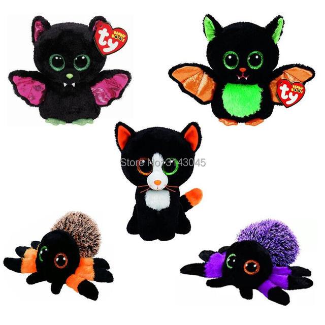 a666d8793bc 15cm ty beanie boos 6 halloween igor beastie bat crawly hairy creeper  spider frights cat