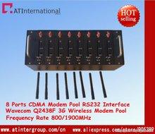 CDMA 3 Г Беспроводной GSM/GPRS 8 Портов Модем Бассейн С Wavecom Q2438F USB
