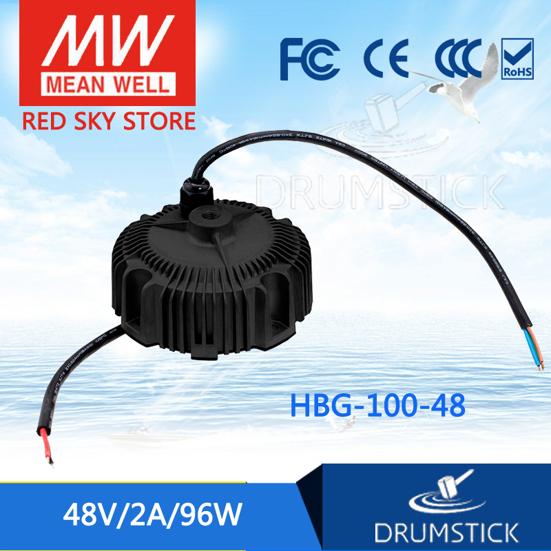 MEAN WELL HBG-100-48 48V 2A meanwell HBG-100 48V 96W Single Output LED Driver Power Supply [ba]mean well original hbg 240 48a 1pcs 48v 5a meanwell hbg 240 48v 240w single output led driver power supply