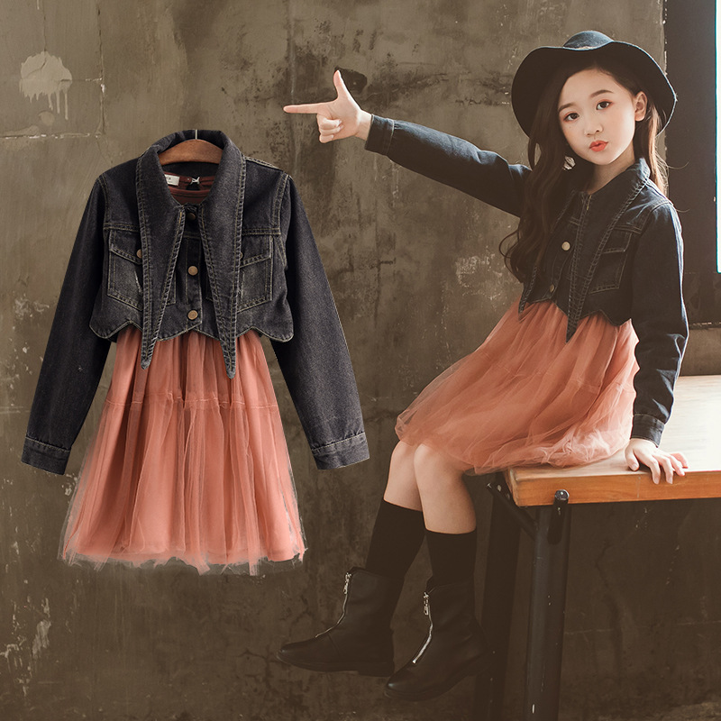 Outfits, Baby, Girl, Denim, Pcs, Lace