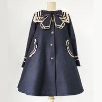 College Stijl Sailor Kraag Enkele Breasted Jas voor Vrouwen door Infanta