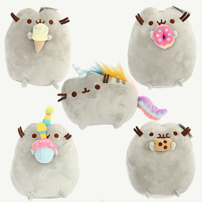 25cm Kawaii Pusheen Plush Pusheen Cat Cookie Icecream Doughn Cake Plush Toys Soft Stuffed Animals Toys for Kids Children Gift fancytrader new style giant plush stuffed kids toys lovely rubber duck 39 100cm yellow rubber duck free shipping ft90122