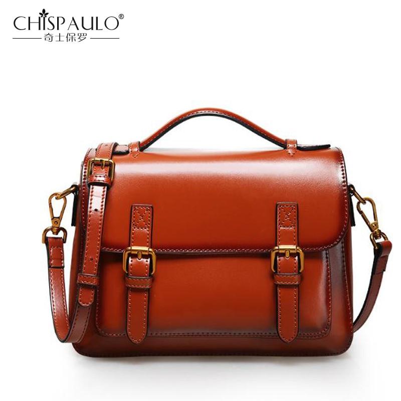 Fashion Genuine Leather Women Bag Solid Famous Design Oil Wax leather Women Shoulder Bag Women Handbag Vintage Totes sac a main