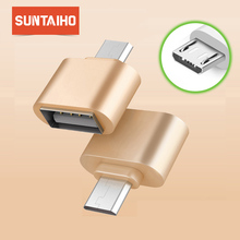 Suntaiho 2P USB Adapter Mini OTG Cable USB OTG Adapter Micro USB to USB Converter for Tablet PC Android For Samsung for Xiaomi