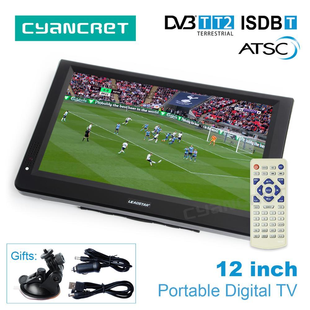 LEADSTAR 12 inch HD font b Portable b font font b TV b font DVB T2
