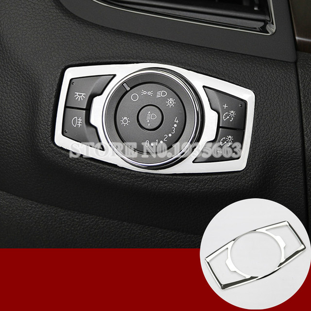 For Ford F150 F 150 Interior Headlight Switch Button Trim Cover 2015 2017  1pcs