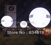 Gas Inflatable lift off glow balloon ground balloon helium balloons LED lighting balloon for resuce, stage, restaurant