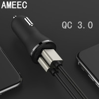 AMEEC Wholesale 5pcs 10pcs QC 3.0 Mini USB HUB Fast Quick Charge For Cellphone 2 Ports Charging 2.4A Fast Charge Free Shipping
