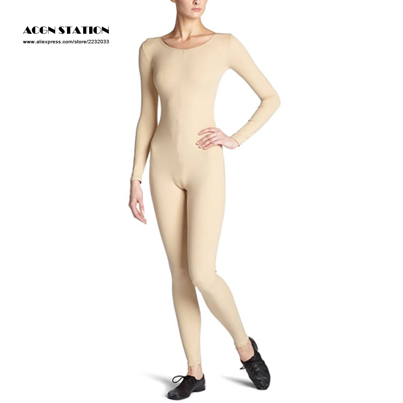 24hours 2017 New Nude Zentai Slim Fit Spandex Jumpsuit for Women Rush order/Same day shipping/