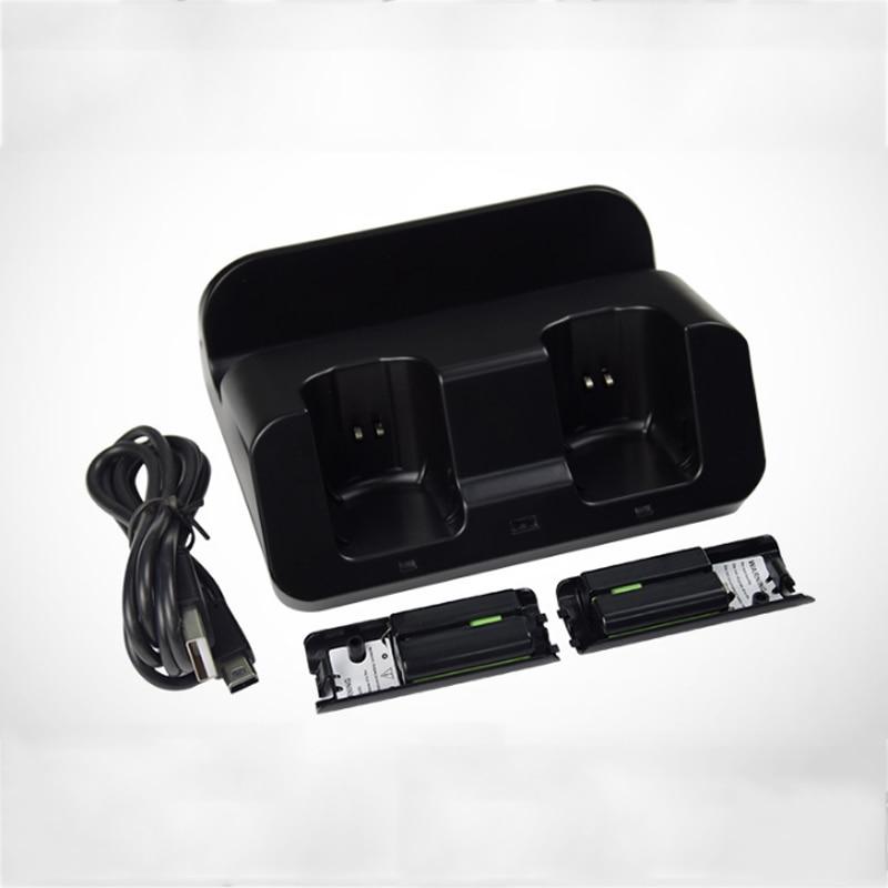 For Nintendo WiiU Wii U Gamepad Joystick Remote Controller 2x 2800mAh Battery Pack Dual Charging Dock