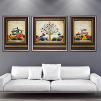 Triptych Oil Paintings Canvas 3 Piece City View Home Decor Framed Room Wall Nordic Decoration