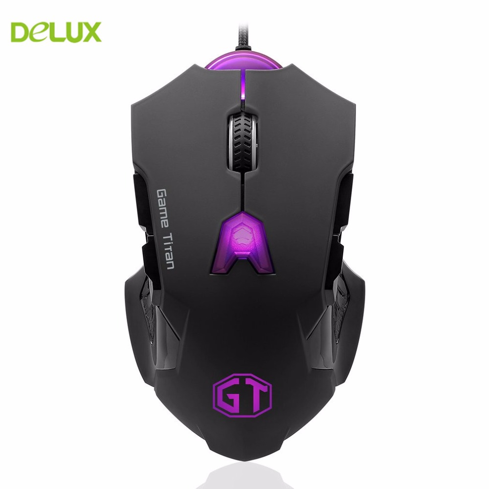 Delux M812LU Gaming Mouse Gamer Laptop PC Mice USB Wired Ergonomics Design Desktop Computer Peripherals Plug And Play