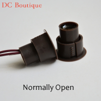 (10 pairs) D*H 23*22mm Brown Color Wired Magnetic Switch Door Open Alarm Sensor Security Magnet Window Alarm normal open relay
