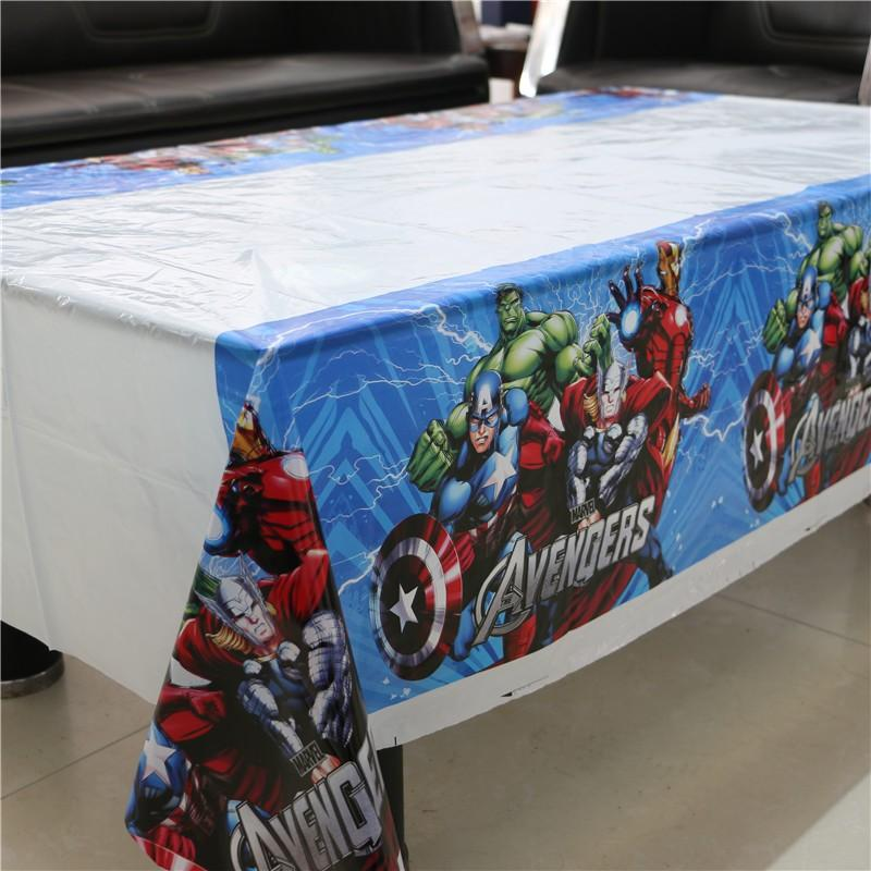 A 180x108cm Disposable PVC Table Cover Tablecloth Kids Party Avengers