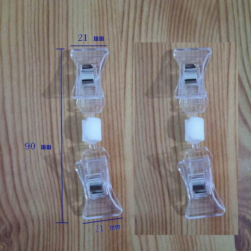 500 шт прозрачный Зажим пластиковый знак ценник держатель карты бумажный дисплей акриловый ценник рекламные зажимы в розничном магазине