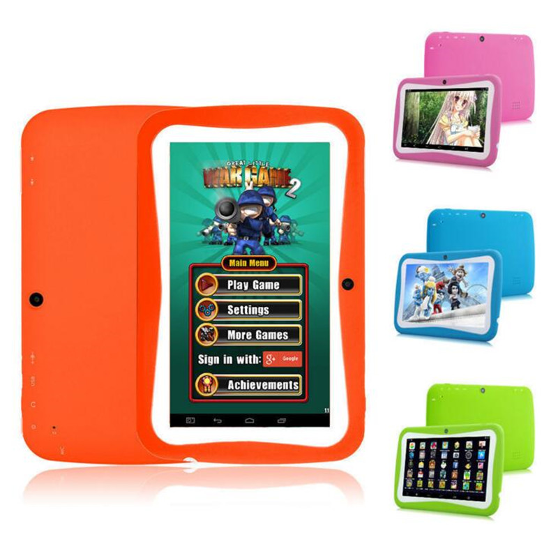 ФОТО 7 inch Quad Core Kids Tablet PC Designed for Children Educational Android 4.4 Preloaded Educational Apps and Games Children gift