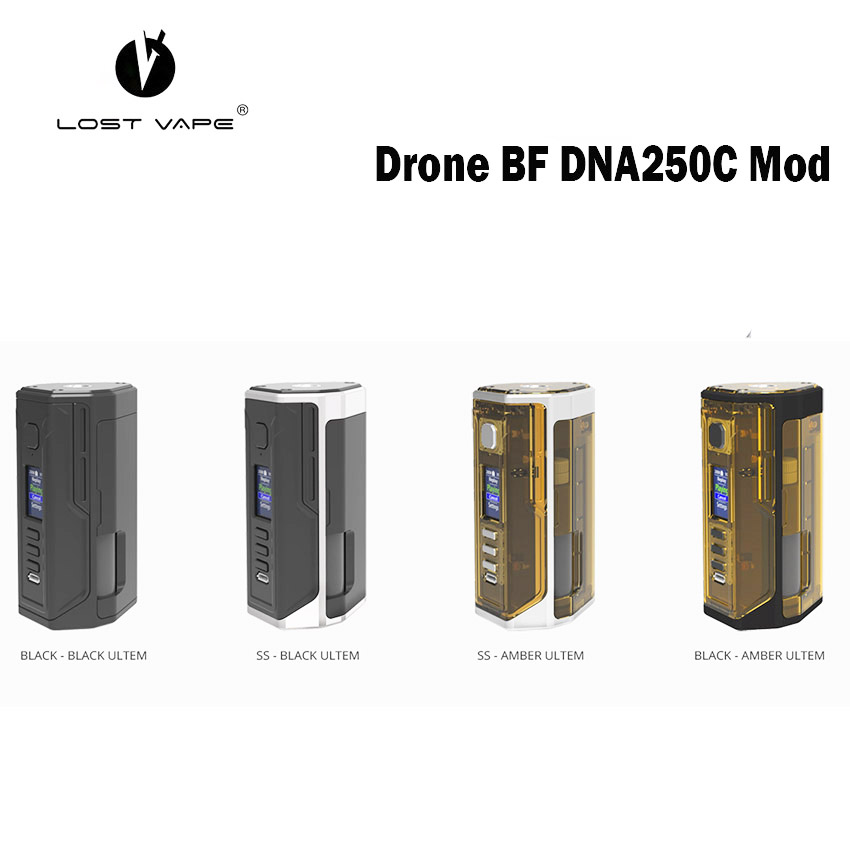 electronic cigarette Lost Vape LostVape Drone BF DNA250C Box Mod Powered By Dual 18650 DNA 250C