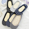 W190 stripe sponge massage cushion stealth ship socks cotton lace girls women slipper socks 1 pair