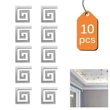 10 шт./лот, Геометрическая Талия, 3D Зеркальная Наклейка на стену для потолка, гостиной, спальни, акриловые настенные наклейки с росписью, современные, сделай сам, домашний декор