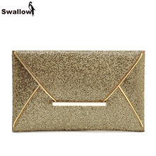 Fashion Lady Party Day Clutches For Women Gold Sequin Evening Clutch Bags For Shopping(China)