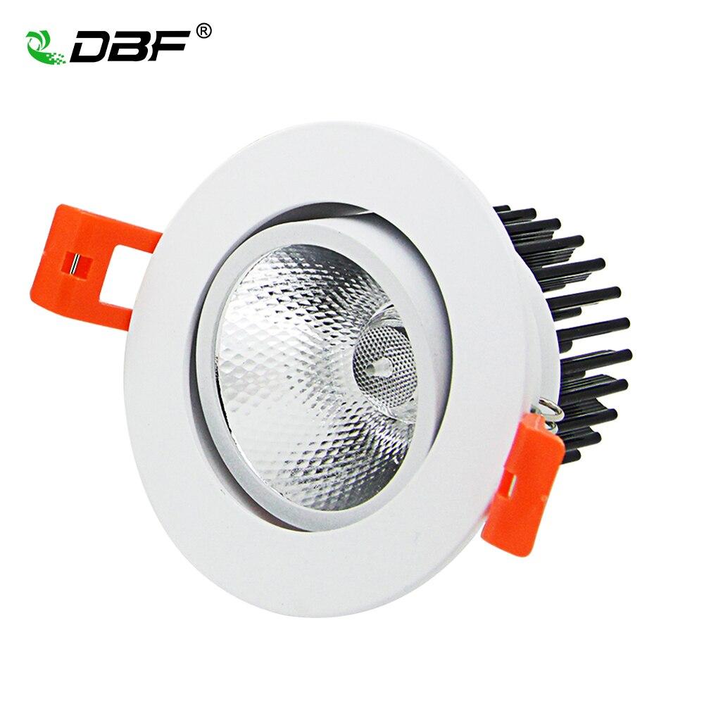 Angle Réglable 7 W/9 W/12 W/15 W/18 W LED COB Downlight Dimmable 3000 K/6000 K Epistar Plafonnier Encastré Spot Light Accueil Décor