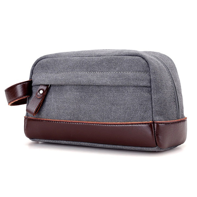 2475d5fde7 Canvas Travel Toiletry Organizer Shaving Dopp Kit Travel Cosmetic Bag Makeup  Men Handbag Casual Zipper Wash