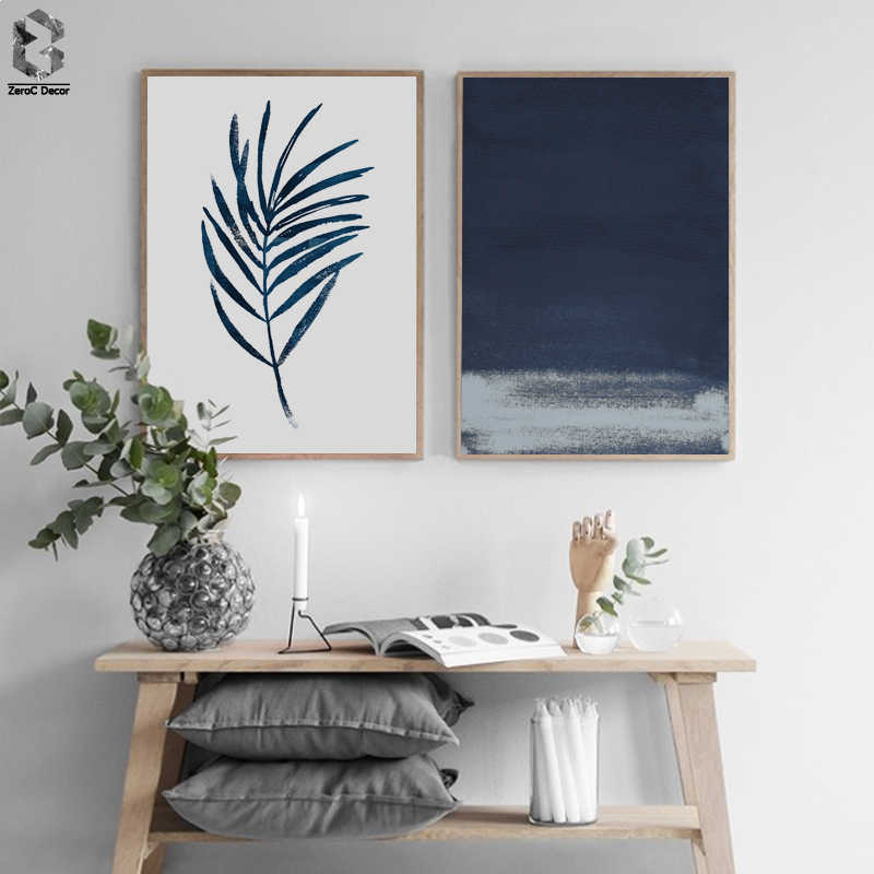 Nordic Style Leaf Canvas Abstract Painting Wall Art Poster and Print Decorative Picture Modern Home Decoration