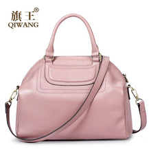 QIWANG women bag 2016 new genuine leather bag quality fashion shell bag quality fashion women shoulder messenger bag