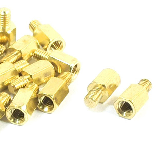 20 Pcs PC PCB Motherboard Brass Standoff Hexagonal Spacer M3 6+4mm shoes accessories gold nflc 20 pcs m3 male x m3 female hexagonal thread pcb standoff spacer 50mm body length